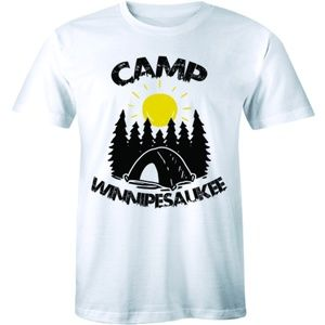 Camp Winnipesaukee Sunrise Camping Tent T-shirt